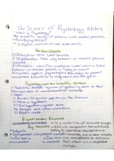 Lecture Notes on the Science of Psychology