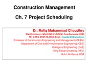 CEE 345-CM-Ch 07-Project Scheduling