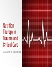 Class 22 - Nutrition Therapy in Trauma and Critical Care.pdf