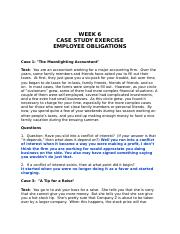 Week 6 Cases--Employee obligations--rev. 2010 (1).rtf
