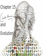 Ch. 15 - Darwin and Evolution(2)(1)