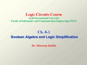 Ch. 4-1 Boolean Algebra and Logic Simplification