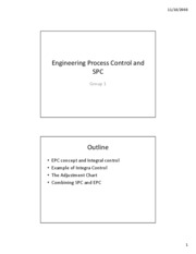 Engineering Process Control and SPC