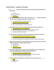 Study Questions - Module 3 Sensation and Perception.docx
