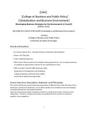 BA A388 201 202101 (CRN 30281) Globalization and Business Environment SPRING 2021(1).docx