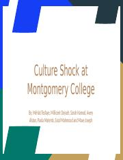 Culture Shock at Montgomery College.pptx