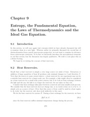 Thermal Physics lecture notes 9