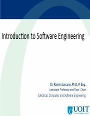 Lecture 18 - Software Engineering (Professor Liscano)