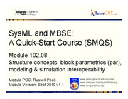 Lecture12b_SMQS_Module_102.08_Structure_Blocks_and_Parametrics_v1.1