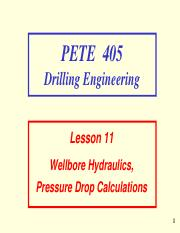 11. Wellbore Hydraulics, Pressure Drop Calculations.pdf