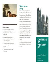 Canterbury Brochure Project