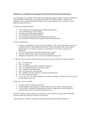 Guidelines for Using the World Wide Web for Holocaust Research Handout