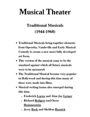 Intro to theater Musical Theater  Traditional6