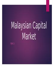 Topic 5 Capital Market(S).pptx