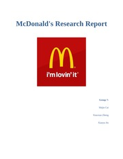 group7 mcdonald s Mcdonald's is an american fast food company, founded in 1940 as a restaurant  operated by richard and maurice mcdonald, in san bernardino, california,.