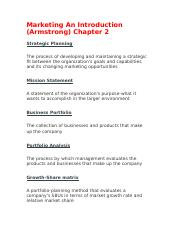 Marketing An Introduction ch 2.docx
