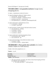 French 102 Chapter 6 Test