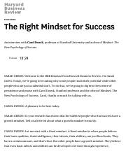 The Right Mindset for Success.pdf