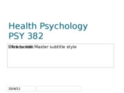 Health Psychology Class I Introduction-1