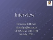 Lecture 8 Interview