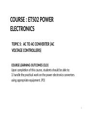 T1 overview of power electronics ppt - 1 0 OVERVIEW OF POWER