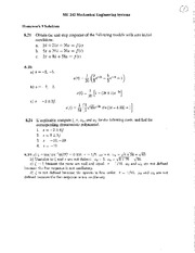 HW 09 Solutions