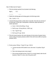 Chapter 5 Quiz Spring 2012 on Hybrid General Chemistry
