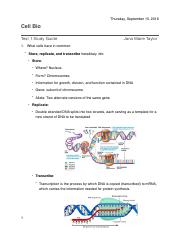 Test 1 Study Guide- Cell Bio Correct.pdf