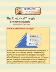 The Rhetorical Triangle and Rhetorical Situations VWC Handout