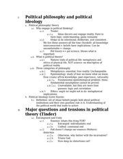 Fundamental Questions in Political Philosophy Study Guide