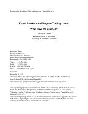 Circuit breakers and program trading limits-what have we learned.pdf