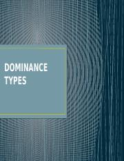 Dominance Types PPT.pptx