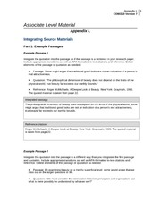integrating source material appendix l Appendix l com/220 1060 words   5 pages associate level material appendix l integrating source materials part 1: example passages example passage 1 integrate the.