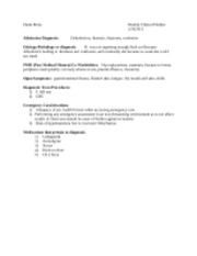 Weekly Clinical Outline 3