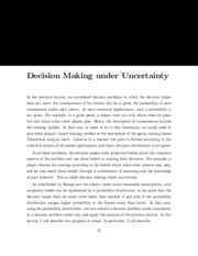 decision making under uncertainty notes