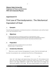 lab report thermodynamic Thermodynamics lab report - application of the perfect gas laws in the determination of adiabatic index of air.