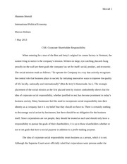 CSR - Corporate Shareholder Respponsibility Paper