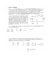 CIVE 310 Final Exam Example Problems