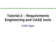 Requirements Engineering and CASE tools