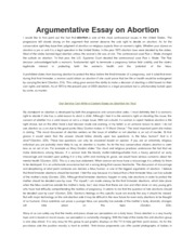 Argumentative essay for abortion