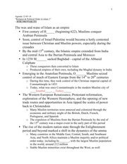 Religion & Political Order in Islam Notes