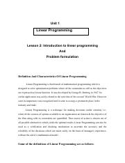 Lesson02IntroductionToLinearProgramming&ProblemFormulation