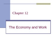 Ch 12 Economy and Work rev