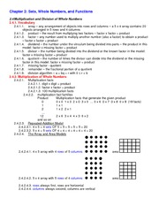 Lecture Notes on Multiplication and Division of Whole Number