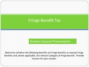 Student Model Tutorial Answer_Fringe Benefits Tax(1)