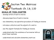 5Matrices - Ch. 1.8, 1.10