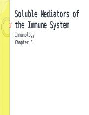 Ch 5 Soluble Mediators of the Immune System