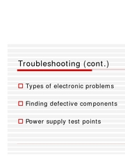 Troubleshooting Basics posting (cont.)