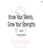 WK1_Know Your Talents