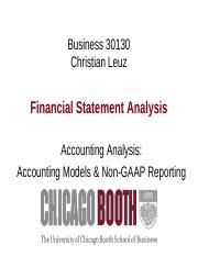 Week 5 Accounting Analysis - Models and Non-GAAP(1)